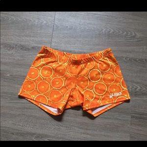ASICS Orange Spandex Shorts XS athletic